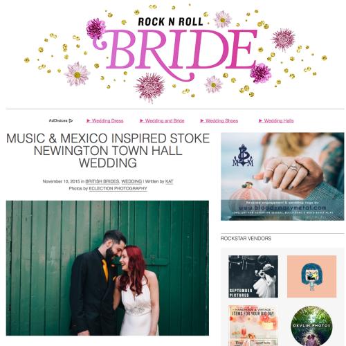 Stoke newinton wedding rocknrollbride