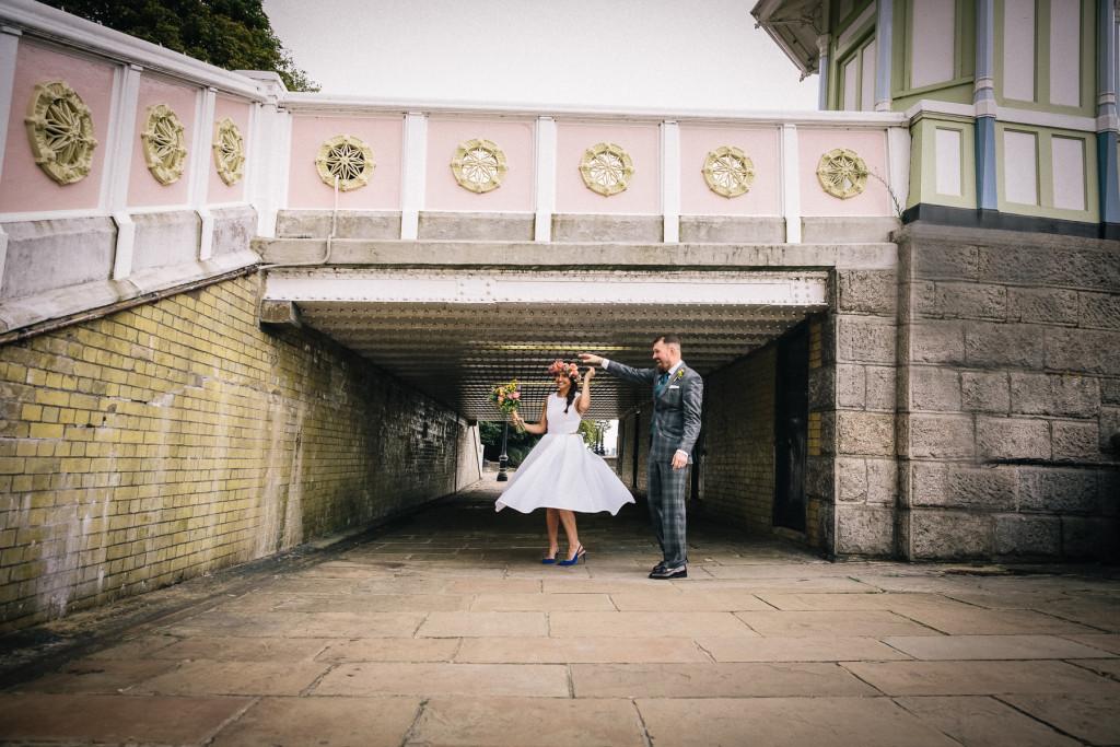 chelsea wedding - albert bridge