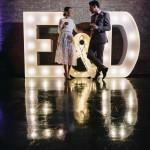 illuminated letters wedding