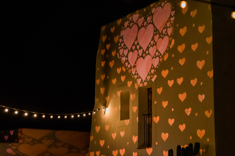 Light installation Las Cicadas Ibiza Wedding